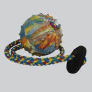 Rubber-ball-MEDIUM-6-cm-string-leather-ring